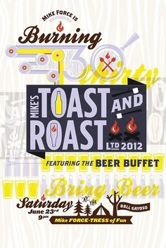 Kyle Scott Creative #roast #burn #design #illustration #poster #typography