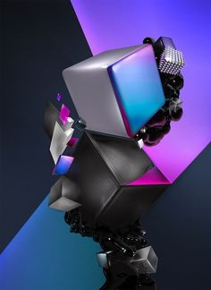 Black Block on the Behance Network #bubbles #design #graphic #genovese #black #block #digital #luca #mtv #soft #art