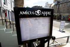 Amicus Apple #dashed #print #design #menu #boxes #wood #drinks #cocktails