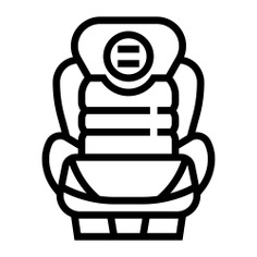 See more icon inspiration related to car, chair, seat, car seat, safety seat, safety belt, seat belt, miscellaneous, racing, transportation, electronics, safety, race, driving, sit, security and vehicle on Flaticon.