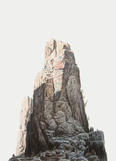 Negative Space is a Positive Thing :: Paintings by George Boorujy - NTHN blog #mountain #stone #rock #landscape #cliff #illustration #painting #beauty
