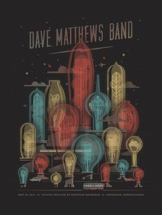 Dave Matthews Band poster by DKNG #print #design #poster #graphic