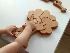 развивающий пазл из дерева