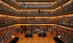 The Centered Librarian: Another beautiful library #libraries #wood #interiors #architecture