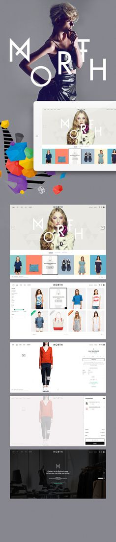 North by Aykut Yilmaz #web design #ui #ux shopping