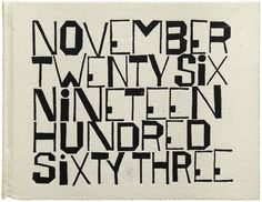 A 1964 book cover by Ben Shahn graces the month of October in the 2014 Letterform Archive Calendar. #cover #1960s #book