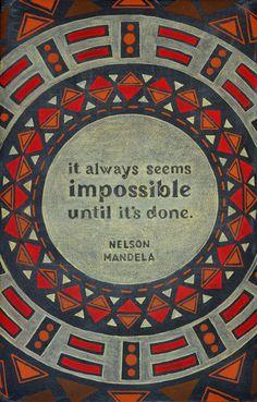 Week 10: Nelson Mandela on Behance #lettering #blackboard #design #chalk #typography