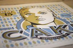 CAKE gig poster « RONLEWHORN #girl #gig #design #illustration #portrait #vintage #poster #typography