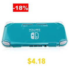 GuliKit #NS16 #Transparent #Shockproof #Protective #Case #Cover #for #Nintendo #Switch #Lite #- #TRANSPARENT