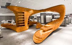 Retail Wood Frankfurt photos2 #wood #cutout #installation