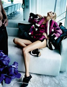 Edita Vilkeviciute & Anja Rubik by Mario Testino for Vogue Paris #fashion #model #photography #girl
