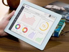 Free iPad Dashboard UI PSD