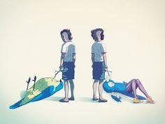 ::nook:: #nook #bird #illustration #painting #raccoonnook