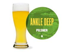 ankle deep pilsner - canal park brewing company