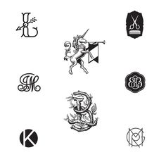custom monograms, trademarks and icon design by Chad Roberts Design #monogram #logo