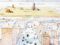 perspective: Cartoonist Saul Steinberg's View of the World from 9th Avenue