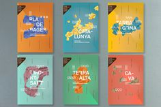 Vins Catalans #spain #shapes #wine #colors #triangles