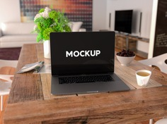 Laptop on a table mock up design Free Psd. See more inspiration related to Mockup, Design, Template, Office, Table, Laptop, Web, Website, Mock up, Templates, Website template, Desktop, Mockups, Up, Web template, Realistic, Real, Web templates, Mock ups, Mock and Ups on Freepik.