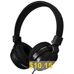 gorsun #GS #Universal #Foldable #Wired #Headphone #Headset #- #BLACK