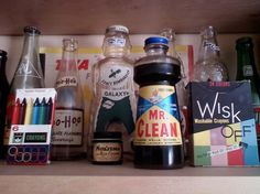 All sizes | Vintage 1950s 1960s Bottles Crayons Soda Mr. Clean Wisk Off Whitman PHONE PIC | Flickr - Photo Sharing! #off #wisk #rc #label #clean #hoo #bo #yoo #package #mr