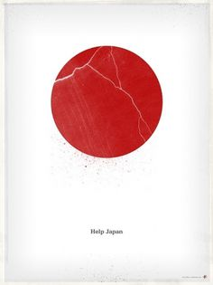 Help Japan! #white #design #graphic #james #japan