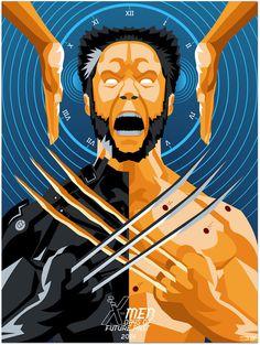 X-Men: Days Of Future Past Poster #x-men #poster #illustration