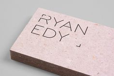 Logo and mixed fibre business card design by Founded for advertising and editorial photographer Ryan Edy #stationary #business #card #identity #paper