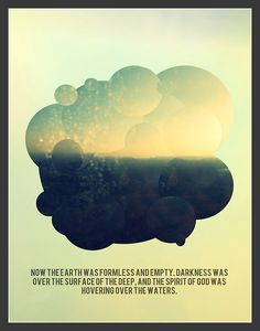 holy spirit project//001 #clouds #genesis #graphic #glory #beginning #jesus #poster #creation #bible #spirit #holy