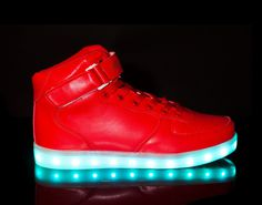 Light Up Shoes Womens Super Nova (Red)