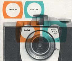 Camera #vintage #camera #colors #blue #orange #kodak