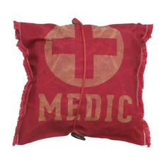 Fab.com | Medical Pouch #retro #serif #red #old #storage #pouch #waxed