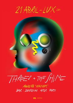 Throes + The Shine Lux, Braulio Amado #poster #typography #illustration
