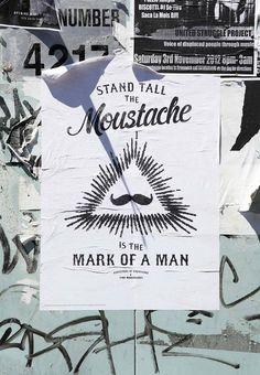 Tim | Urchin | Movember Poster #moustache #movember #poster #street