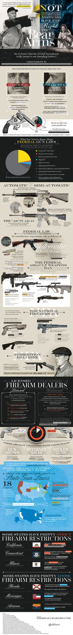 Do you have the right to keep and bear arms? Maybe not, according to this infographic.