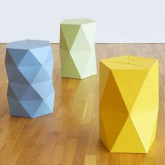 Make a statement with this contemporary cardboard stool. #design #product #modern