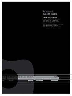 JAY FARRAR & BEN GIBBARD - 'Big Sur: One Fast Move Or I'm Gone' Limited Edition Poster: Fast Atmosphere Artist Stores #gibbard #jar #farrar #benjamin