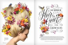 Summer Hair Guide 2 by Jessica Hische #spread #flowers #typography