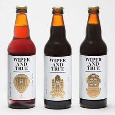 Wiper and True Beer Bottles #beer #bottle #label #packaging