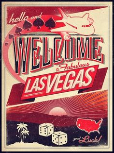 Welcome to Las Vegas by Surface to Air Design Foundry #poster