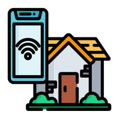 See more icon inspiration related to architecture and city, home automation, smart home, electronics, mobile phone, buildings, home, smartphone, smart, cellphone and technology on Flaticon.