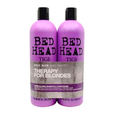 Tigi Bed Head Dumb Blonde Shampoo & Conditioner For Coloured Hair Duo Pack