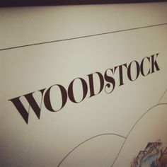 Woodstock Poster Detail #typography #poster #serif #detail #woodstock