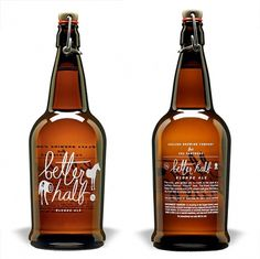 Pretty Package: Better Half Blonde Ale | remnants #logo #packaging #white #brown #bottle
