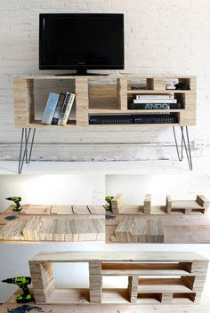 CJWHO ™ (How To Make a Media Console For $40) #crafts #design #wood #photography #art #homemade