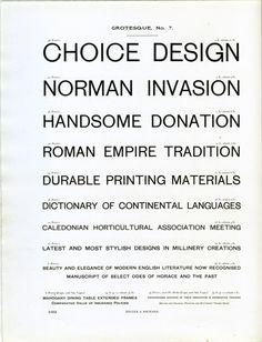 Grotesque № 7 type specimen