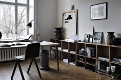 #interior #shelves #workspace #desk