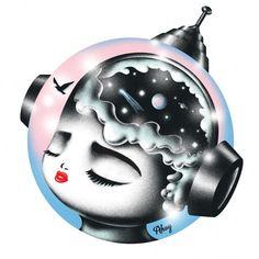 #orbit #illustration #head