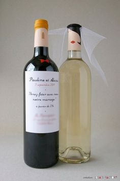mariage-p-a-10x15-blog.jpg (1066×1600) #groom #bride #wine #bottle