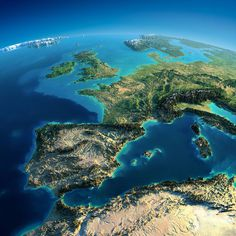 Relief map #map #topography #satellite #blue