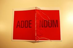 Gagarin Addendum on the Behance Network #binding #red #addendum #design #book #gagarin #sjaak #boessen #editorial